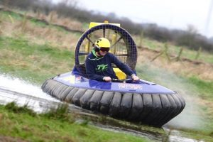 man in hovercraft
