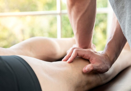 man getting a sports massage