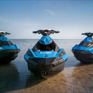 Jet skis in water