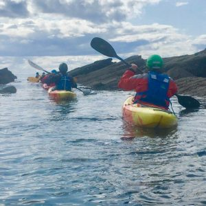 canoeists in East neuk scotland
