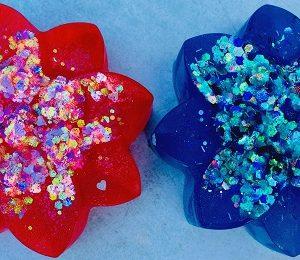 glitter bath bombs