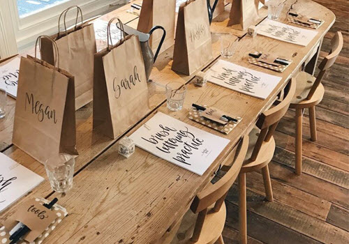 Brush Lettering Calligraphy Workshops Gallery Image