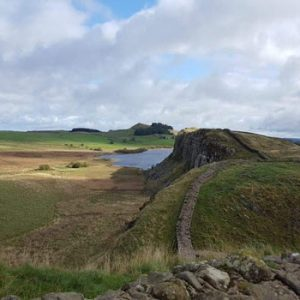 View from Hadrian's wall across the North of England
