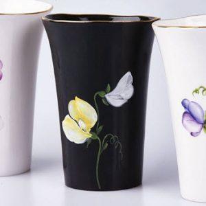 Fine art ceramic painted vases