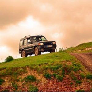 Land Rover on hill