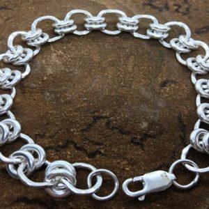 Silver bracelet made at a workshop