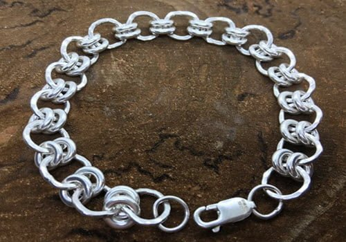 Silver bracelet made at a workshop