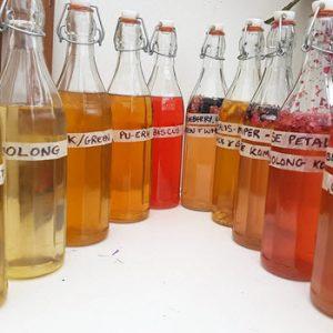 home made bottled drinks