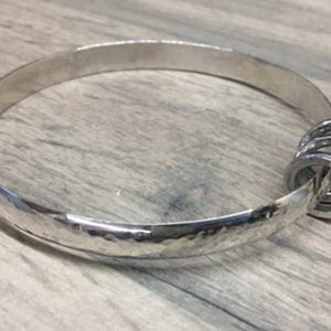 silver bracelet with rings