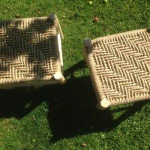 2 handmade stools