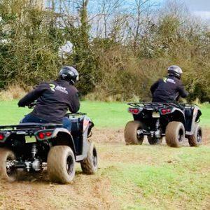 2 quad bikes and riders in Bristol