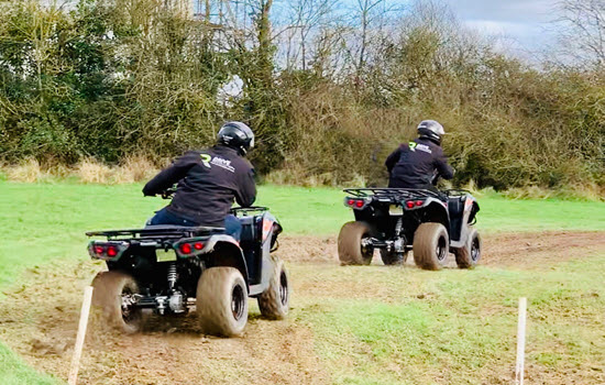 2 quad bikes and riders in Bristol