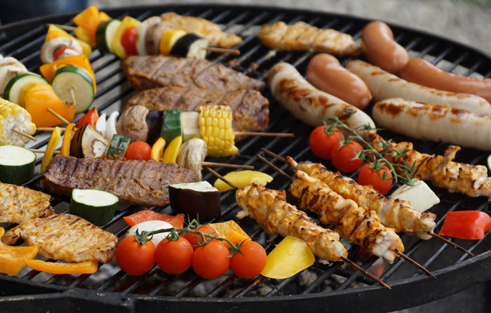BBQ Skewers on the Grill