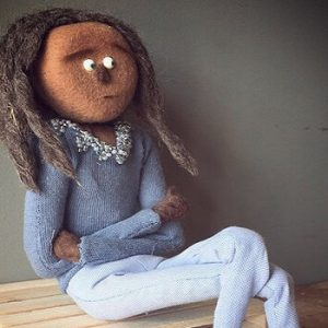 felt puppet made at Online Felt Workshop