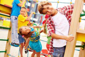 kids at the park having fun