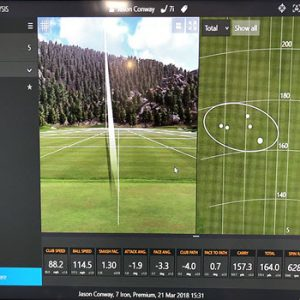 golf simulator showing where and how you hit the ball virtually
