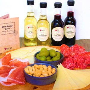 4 bottles 250ml white and red wine italian food platter