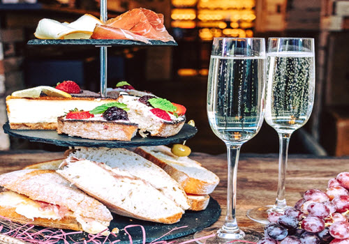 Italian Afternoon Tea for Two with Prosecco Gallery Image