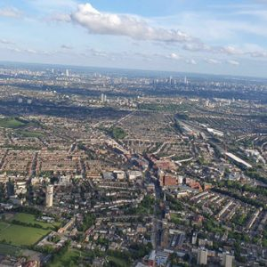 Aerial view of London in the Day