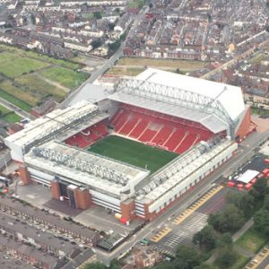 aerial view of Anfield Stadium