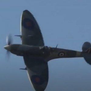 world War two plane flying in sky